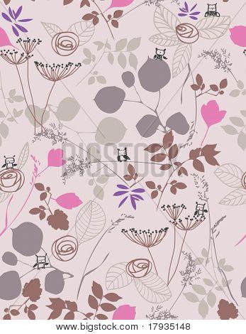 Vektor Floral (Seamless Pattern)