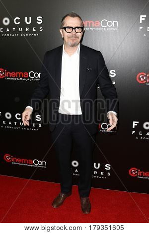 LAS VEGAS-MAR 29: Actor Gary Oldman attends the Focus Features presentation at Caesars Palace during CinemaCon on March 29, 2017 in Las Vegas, Nevada.