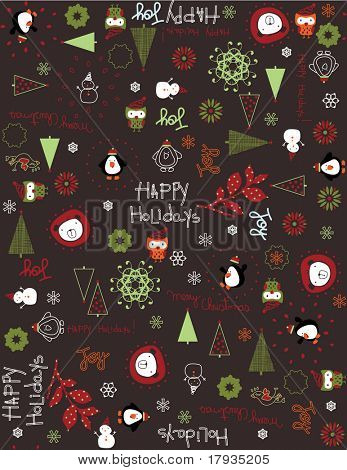 Vector Baby Christmas (Seamless Pattern)