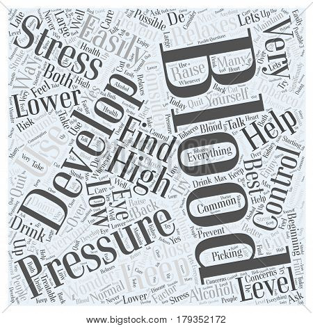 Why Do We Develop High Blood Pressure Word Cloud Concept