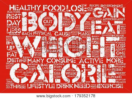 Why Do We Gain Weight Word Cloud Concept Text Background