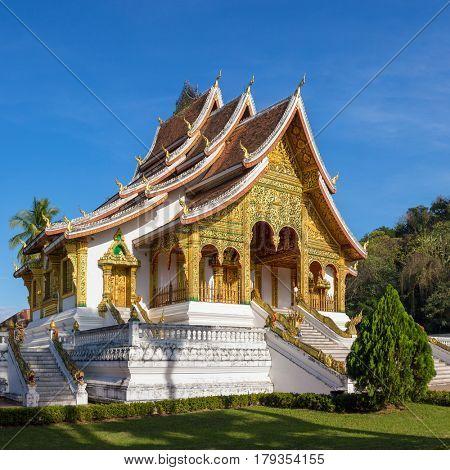 Haw Pha Bang temple in Luang Prabang, Laos