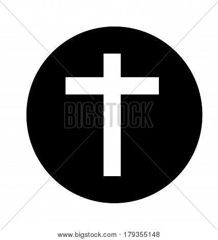 religious cross isolated icon vector illustration design
