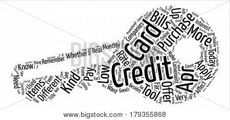 Why Get A Low Apr Credit Card text background word cloud concept