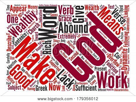 Why God Dynamites Wealth To You text background word cloud concept