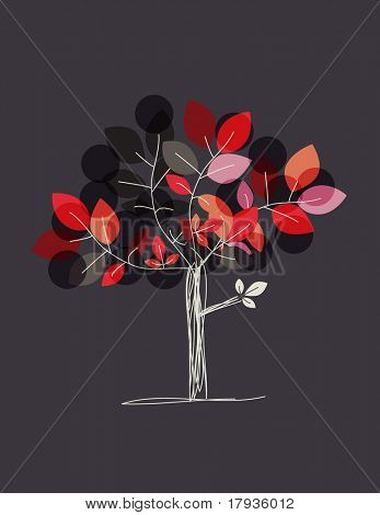 Vector graphic displaying a tree