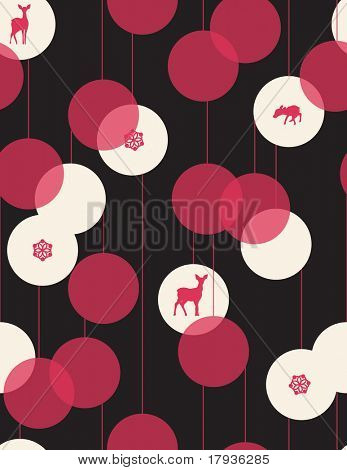 Vector seamless pattern displaying contemporary Christmas gift wrapping paper design