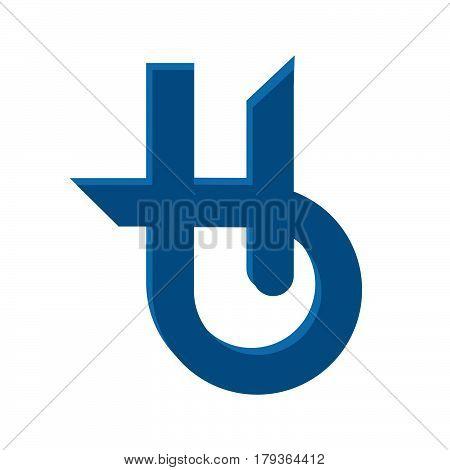 Letter H Holistic health center logo design.