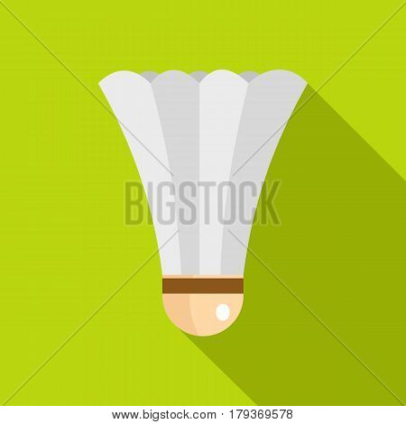 Shuttlecock for playing badminton icon. Flat illustration of shuttlecock for playing badminton vector icon for web isolated on lime background