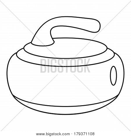Stone for curling icon. Outline illustration of stone for curling vector icon for web