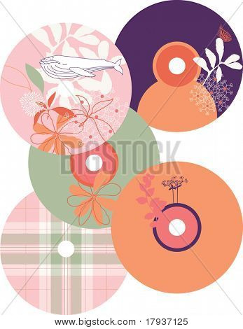 Vector CD Labels (Graphic Set of 5)