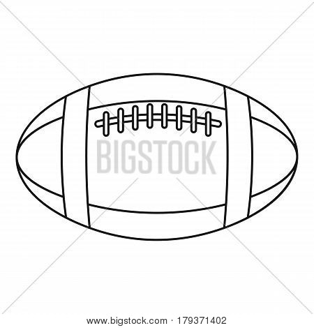 Football or rugby ball icon. Outline illustration of football or rugby ball vector icon for web