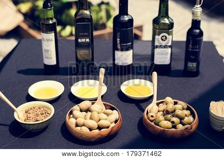 Food and Drink Outdoor Table Concept