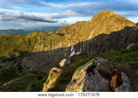 Landscape View On The Slovak Mountain Nizke Tatry