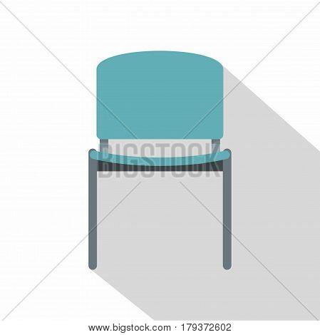 Blue office metal chair icon. Flat illustration of blue office metal chair vector icon for web is olated on white background