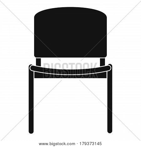 Black office chair icon. Simple illustration of black office chair vector icon for web