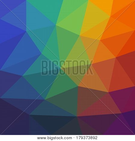 Colorful Abstract Background of Asymmetric Triangles. Universal Bright Colored Background of Geometric Figures.