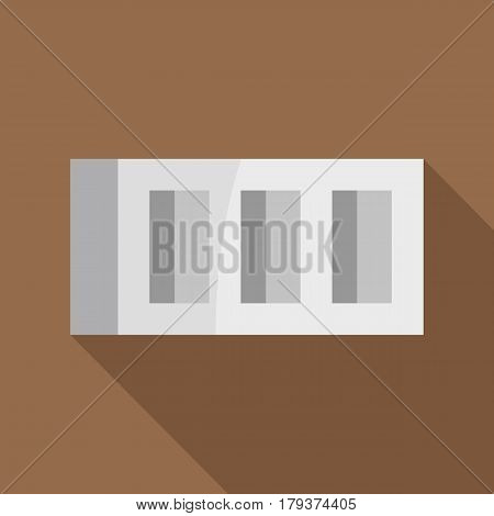 Building block icon. Flat illustration of building block vector icon for web isolated on coffee background
