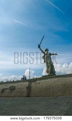 A part of Mamaev Kurgan and Motherland monument in Stalingrad (February 23, May 9).