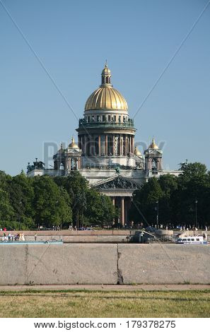 The famous Isaac Cathedral, St. Petersburg, Russia