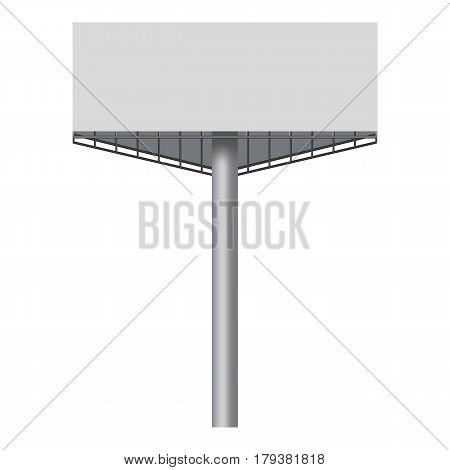 Big blank white billboard mockup. Realistic illustration of big blank white billboard vector mockup for web