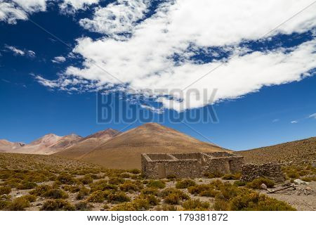 Mining ghost town in the Altiplano Bolivia