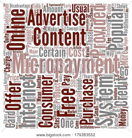 A Closer Look At Micropayments Word Cloud Concept Text Background