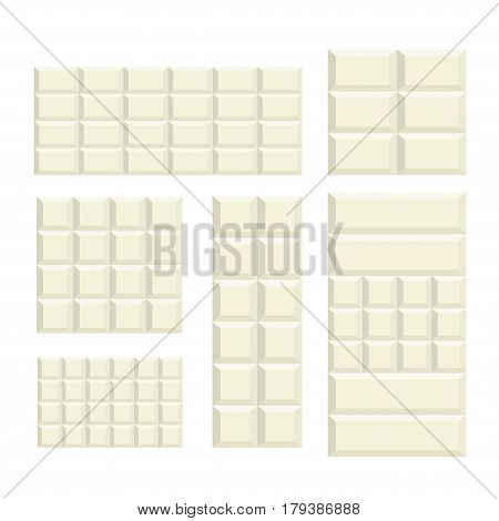 white Chocolate bar variation pattern background food