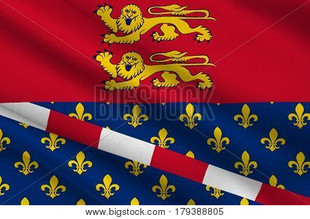 Flag of Eure is a department in Normandy is a Region in the north of France. 3d illustration