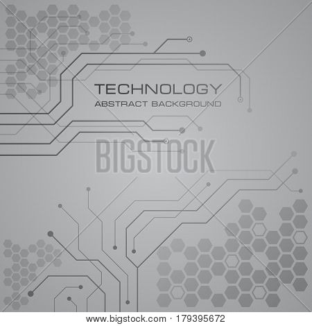 Printed circuit board technology abstract vector background