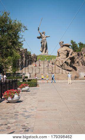 Motherland Is Calling!  Mamaev Kurgan, Russia