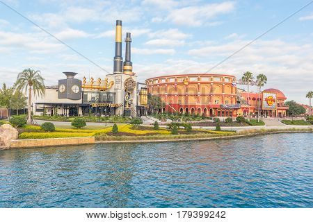 Orlando, Florida, USA - JANUARY 05, 2017: Charlie's Chocolate Emporium in the Universal Orlando Resort adventure theme park