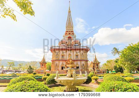 Temple Chaitararam (Wat Chalong temple) in Phuket province Thailand