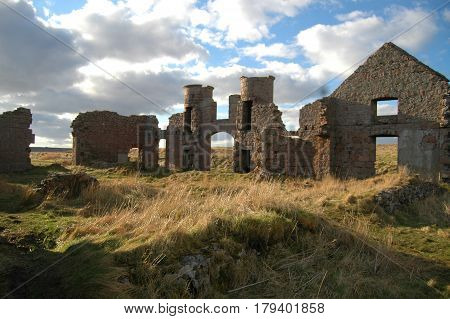 Ruins of Slains Castle, said to be the inspiration for Dracula, Aberdeenshire