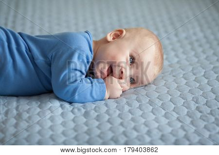 baby, cute boy, infant, child playing, baby care