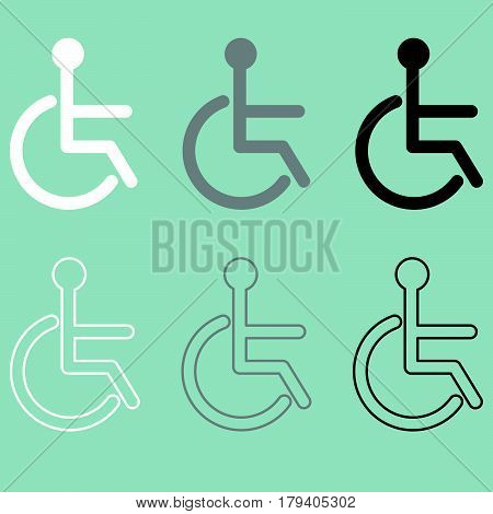 Invalid Icon Handiccapped Person Disabled Or Disabled Person.