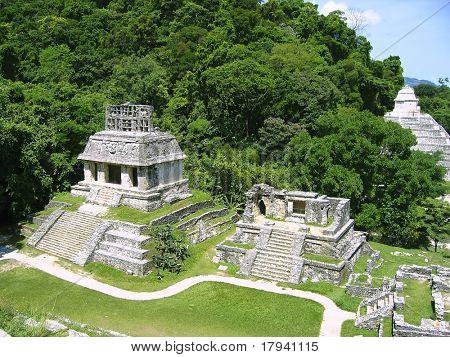 Palenque mayan ruins maya monuments Chiapas Mexico poster