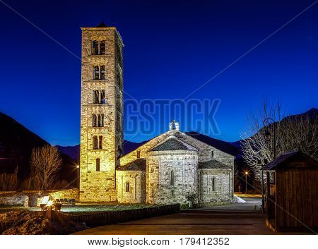 Roman Church of Sant Climent de Taull (Catalonia - Spain). This is one of the nine churches which belongs to the UNESCO World Heritage Site.
