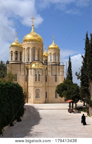 Cathedral of Gorny Russian Orthodox convent in Ein Kerem near Jerusalem Israel