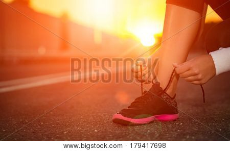 run runner sport shoe road jogging flare sunset asphalt street fitness cross sunbeam success running sportswear