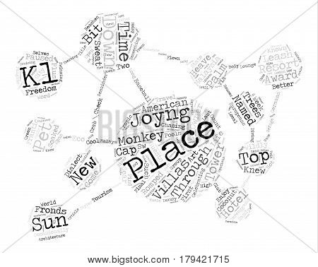 Cool Places In Hot Malaysia text background word cloud concept