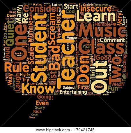 Cool Teachers Rule With Cool Teacher s Rules text background wordcloud concept