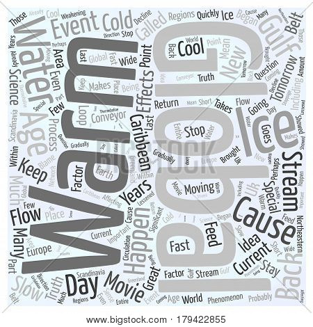 Could Global Warming Cause A New Ice Age Word Cloud Concept