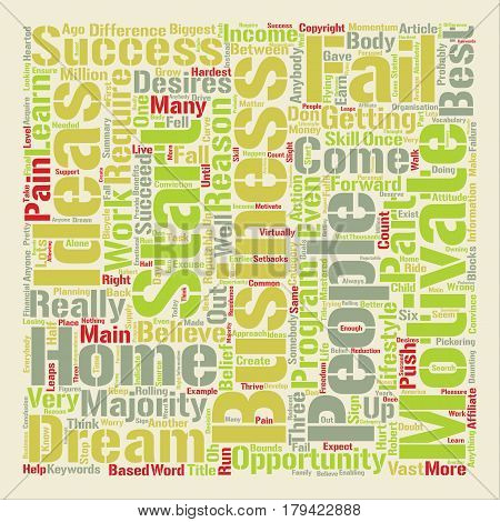 Could You Succeed With A Home Business text background word cloud concept