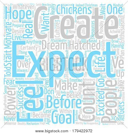 Count Your Chickens Before They ve Hatched text background word cloud concept