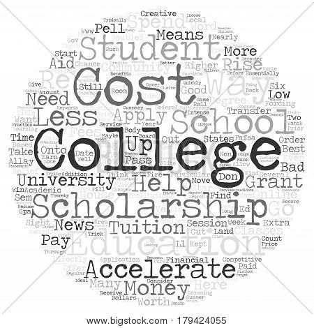 Creative Ways To Help Pay For College Word Cloud Concept Text Background