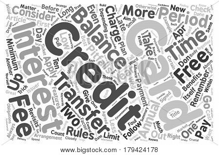 Credit Card Balance Transfer Revisited text background wordcloud concept