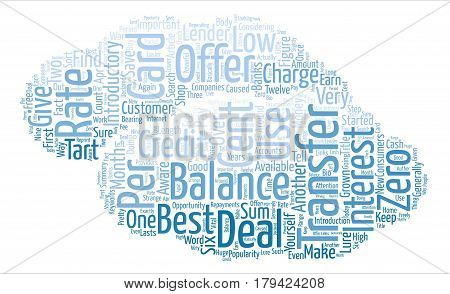 Credit Card Balance Transfers Introductory Offers Word Cloud Concept Text Background