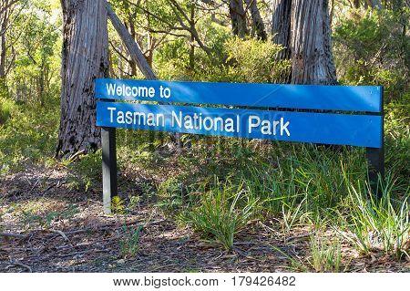 Tasman National Park Sign