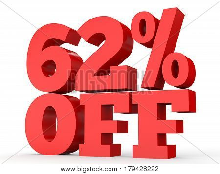 Sixty Two Percent Off. Discount 62 %.